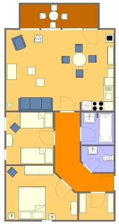 grundriss der komfortablen strandnahen ferienwohnungen in der 39 strandresidenz juliusruh 39 in. Black Bedroom Furniture Sets. Home Design Ideas